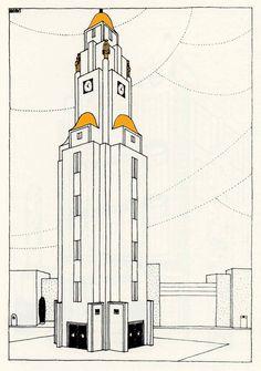 Une cité moderne, Robert Mallet Stevens.  Beffroi (n° 28)