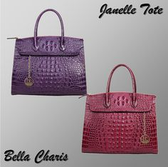 Bella Charis Janelle Leather Tote 2 Colours