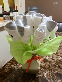 Hahaha totally doing this a valentine for him the sock bouquet men arent too receptives to flowers so why solutioingenieria Gallery