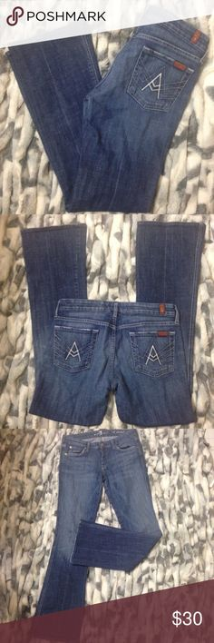 "7FAM A Pockets 7 Fam ""A Pockets"" Inseam 31"" excellent condition 7 For All Mankind Jeans"