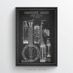 Bradbury Banjo Patent Art Print #patentart