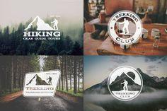 6 Trekking Adventure Badges & Logos by Jekson Graphics on Creative Market