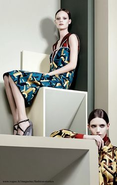 Graphic  Graphic: By Craig Mcdean For Vogue Italia July 2014 - Prada
