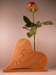 Vasen - Puzzle Herzvase - ein Designerstück von Erlensaeger bei DaWanda