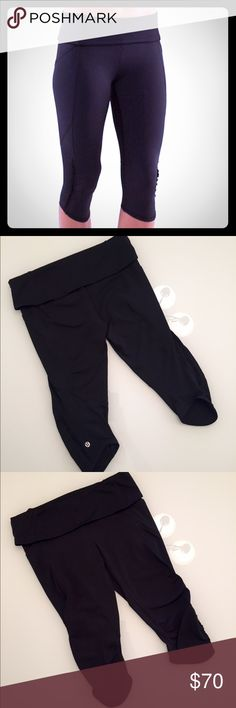 🍋Lululemon Nothing To Hide Crops Lululemon Nothing To Hide Ruffled Crops. Size 8. Black. Mesh pockets on the sides and mesh behind the knees with ruffles and a fold over waistband. EUC! No trades! Bundle to save on shipping! I have lots of Lulu items listed.  PRICE IS FIRM unless bundled.  Thanks! 😊 lululemon athletica Pants Capris