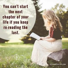 You can't start the next chapter of your life if you keep re-reading the last. #lettinggo #happiness #findingjoy #quotes #lifelessons #motivationalquotes #motivational #inspiration #movingon