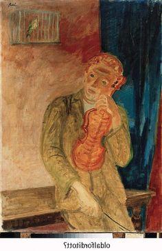 Bereny, Robert (1887 - 1953) Boy with a Violin