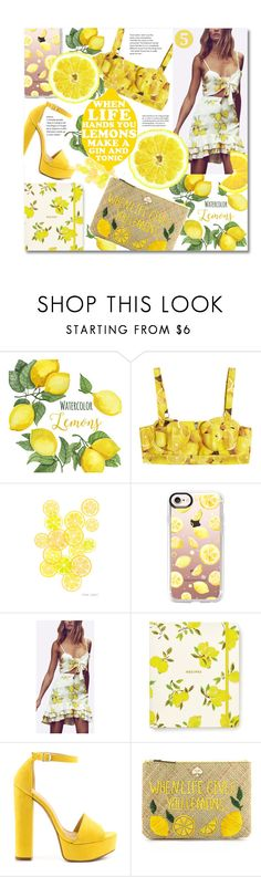 """""""LEMONS"""" by franceee ❤ liked on Polyvore featuring Michael Kors, Alice + Olivia, Casetify, Kate Spade, Chinese Laundry and Universal Lighting and Decor"""