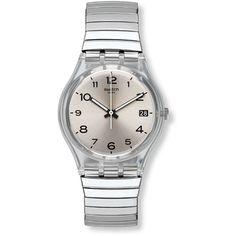 Reloj Swatch Unisex Gent Silverall L Big Watches, Stylish Watches, Luxury Watches, Watches For Men, Cheap Watches, Wrist Watches, Smartwatch, Daniel Wellington Damen, Unisex