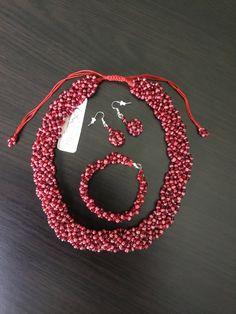 Jewellry set.necklace, earring, bracelet. Facebook Sign Up, Crochet Earrings, Ornament, Bracelets, Handmade, Jewelry, Bangle Bracelets, Hand Made, Jewellery Making