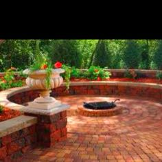Backyard fire pit and patio