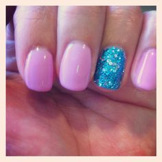 bubble gum pink and glittery baby blue