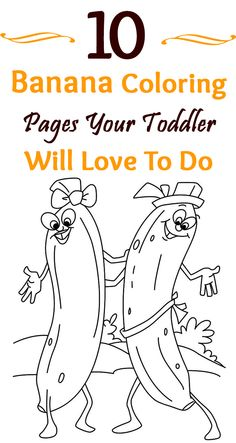 Top 10 Banana Coloring Pages Your Toddler Will Love To