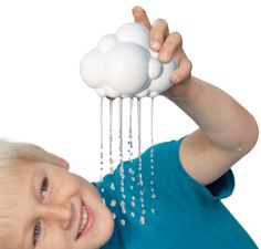 A rain cloud bath toy! One its perfect for little hands, Two it a personal rain cloud.if only I had this a kid. Fill it up in the bath and has a little tab at top to stop the rain - or bring down the rain.
