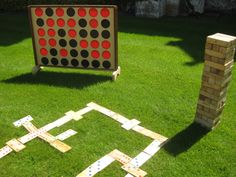 Giant Garden Games- great for weddings, BBQ's, tailgating or any outdoor fun