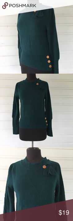 Ruby Belle Teal Sweater Vintage Inspired Details Description to come. Excellent condition. Kids Size 16, Easy fit for women's XS Petite. Ruby Belle Shirts & Tops Sweaters