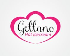 Gellano Hot Ice cream Logo design - This logo design is perfect for icecream companies, icecream parlour and for icecream product launch. <br /><br />Hot icecream logo design comprise on iconic shape with 2 heart combination. Brand name / Business name is surround inside icon with an stylish cursive font.<br /><br />Hot icecream logo design can be your new startup of frozen dessert food with an healthy eating tag.<br /><br />I will deliver this logo with source file, jpg, png, eps. If you…