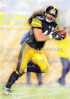 By artist Kelvin Martin. This is a very limited edition professionally printed art lithograph. Print measures (Image slightly smaller). Highly suitable for framing. Sure to be collector\'s item down the road. Deangelo Williams, Troy Polamalu, Ride Or Die, Pittsburgh Steelers, Captain America, Superhero, Art Prints, Printed, Artist