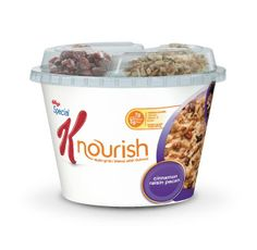 Special K Nourish -- yummy cinnamon, raisin, pecan -- 30 seconds and you have warm deliciousness :)