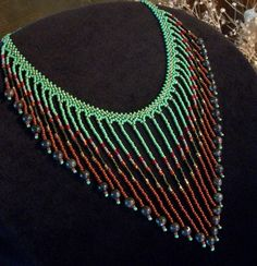 Glass & Stone Beaded Bib Necklace Necklaces for Women por Rs4U