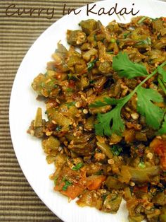Curry In Kadai ~ An Indian Cooking Blog: Spicy Okra Curry With Mint( Bendi Masala )