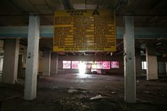 athens ghost airport, A board showing domestic destinations is seen inside a hall at the west terminal Reuters Karpathos, Samos, Mykonos, Santorini, Greece Pictures, Best Airlines, Athens Greece, International Airport, Abandoned Places