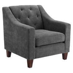 Tufted Chair - Gray - with a lighter color rug and lighter accents, the gray color on the chairs could work