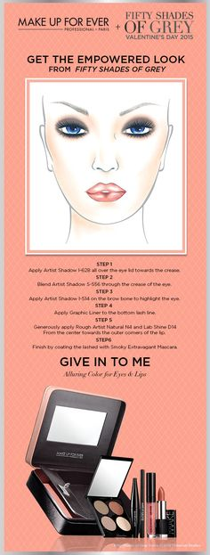 Learn how to get The Empowered Look from Fifty Shades of Grey and MAKE UP FOR EVER. #Sephora #makeupforever