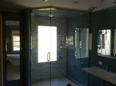 Bathroom Cabinet : Remodeling San Jose A Bathroom With Modern Shower Hand Beside Cool White Wall Mount Sink Attached To Trendy Blue Wall Bat...