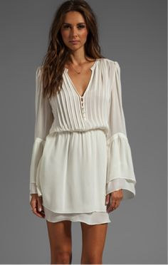 Ivory dress, pref round
