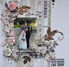 Prima Marketing -Rose Quartz- You & Me - Layout Gallery