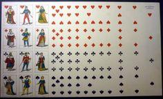 Foglio Carte da Gioco Francesi - Pignalosa , Napoli - 1940 ca. in Giocattoli e modellismo, Giochi di società, Poker e giochi di carte | eBay