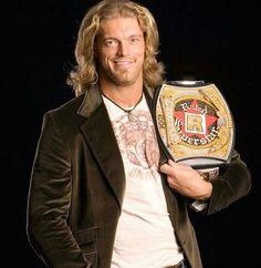"Adam ""Edge"" Copeland w/ his custom made ""Rated R Superstar"" Championship spinner belt"