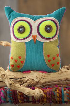 Owl Pillow.  This amazing pillow inspires you to go with all your heart where ever you decide to go! $32.00