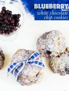 Blueberry White Chocolate Chip Cookies - Pizzazzerie