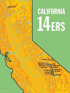 Washington K Prominence Peaks Poster My Style Pinterest - 14ers map us