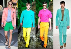 Time for men to go bold with neon colours! Women wear bright coloured apparel to brave the dull sticky weather. Men can follow suit by teaming neon bandhgalas with beige or khakhi fitted trousers or bright jackets with white shirts.