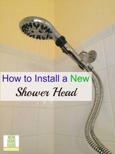 How to install a new shower head -- it s easier than you think!! Only takes a few minutes, even for a beginning DIYer.