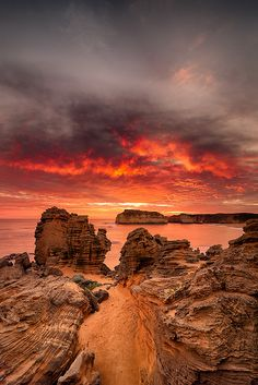~~Fire in the sky | The Cove, Bay of Islands, Victoria, Australia by atoulmin~~