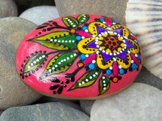 mandala bloom / painted rocks / painted stones / hand painted rocks / art on stone / rock art / boho art / beach stones by LoveFromCapeCod on Etsy https://www.etsy.com/listing/242414698/mandala-bloom-painted-rocks-painted
