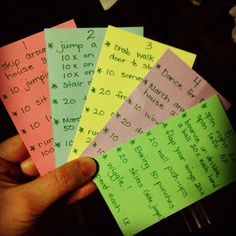 Exercise cards for kids. Great for homeschool PE.