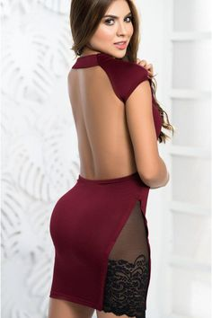 Body Dress | Mapale | Sexyshoes.com | Free Shipping Over $79 | SEXYSHOES.COM Girls Blue Dress, Angel Dress, Sexy Outfits, Sexy Lingerie, Short Dresses, Mini Skirts, Lace, Clothing, Burgundy
