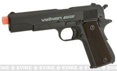 V Tactical VT1911 Metal Gas Blowback Airsoft Pistol w/ Hard Pistol Case by Valken - Black
