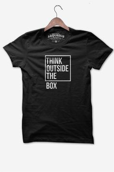 Think outside the box black tee
