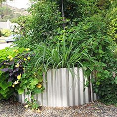 How to build a corrugated metal raised bed