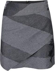 Bílo-černá vzorovaná sukně Desigual Mireia