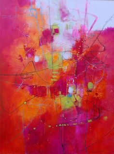 Spring Fever by Cynthia and Steve Adams Mixed Media ~ 48 x 36 Orange Painting, Oil Painting Abstract, Acrylic Paintings, Guache, Pink Abstract, Abstract Photography, Sculpture, Painting Inspiration, Modern Art