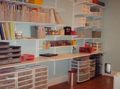 professionally organized craft room - Google Search  Great idea for my scrapebooking room!