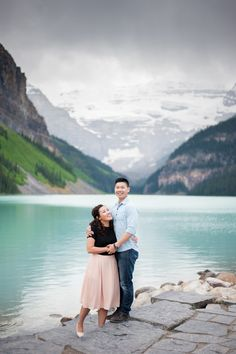 Lake Louise, Alberta, Canada Engagement Photos by René Tate Photography