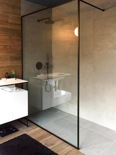 Ergonomic glass shower screens from our company embody the best features of the modern shower units. Make the most reasonable purchase now! Bathroom Renos, Bathroom Interior, Bathroom Showers, Glass Showers, Shower Rooms, Glass Bathroom, Glass Shower Doors, Shower Screens, Glass Shower Enclosures